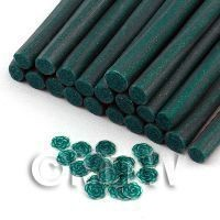 1/12th scale Handmade Green Rose Cane With Glitter - Nail Art (11NC44)
