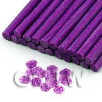 Handmade Purple Rose Cane With Glitter - Nail Art (11NC47)