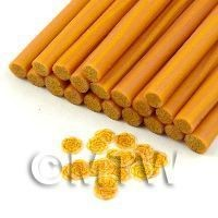 1/12th scale Handmade Golden Orange Rose Cane - Nail Art (11NC48)
