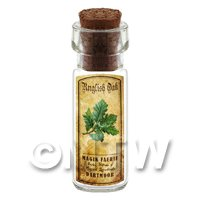 Dolls House Apothecary Englis Oak Herb Short Colour Label And Bottle