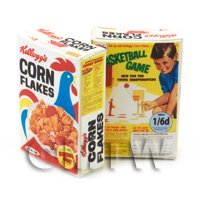 Dolls House Miniature Kelloggs Corn Flakes Box From 1963