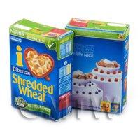 Dolls House Miniature Box of Nestle Shredded Wheat - 2011