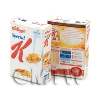 Dolls House Miniature Box of Kelloggs Special K From 2011