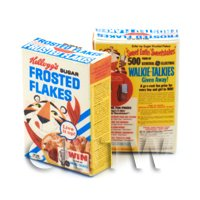 Dolls House Miniature Kelloggs Frosted Flakes Box From 1966