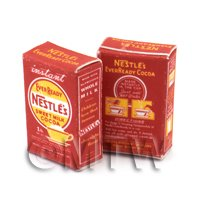 1/12th scale - Dolls House Miniature Nestle Cocoa Box From 1930-50s