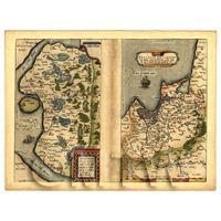 Dolls House Miniature Old Map Of Oldenberg, Germany From The Late 1500s