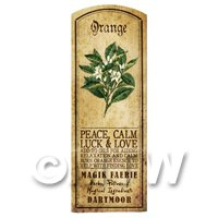 Dolls House Herbalist/Apothecary Orange Herb Long Colour Label