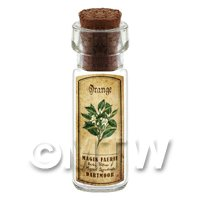 Dolls House Apothecary Orange Herb Short Colour Label And Bottle
