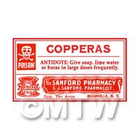 Dolls House Miniature Copperas Poison Label Style 4
