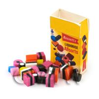 1/12th scale - Dolls House Miniature Liquorice Allsorts  Box With Sweets