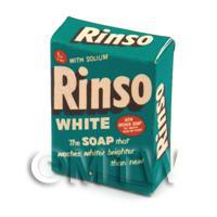 Dolls House Miniature Rinso White  Soap Powder Box