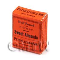 Dolls House Miniature Half Pound Sweet Almonds Box