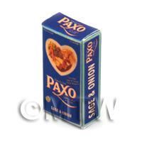 Dolls House Miniature Paxo Sage And Onion Stuffing Box