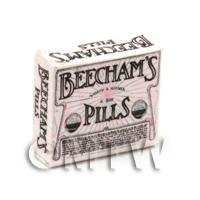 Dolls House Miniature Pink Victorian Beechams Pills Box