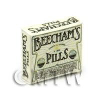 Dolls House Miniature Cream Victorian Beechams Pills Box