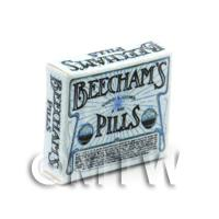 Dolls House Miniature Blue Victorian Beechams Pills Box