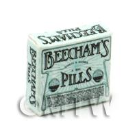 Dolls House Miniature Green Victorian Beechams Pills Box