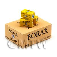 Dolls House Miniature Borax Soap Shop Stock Box and 3 Loose Boxes