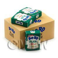 Dolls House Miniature Bero Plain Flour Shop Stock Box And 3 Loose Boxes