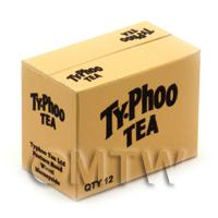 Dolls House Miniature Typhoo Tea Shop Stock Box
