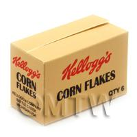 Dolls House Miniature Kellogs Corn Flakes Shop Stock Box