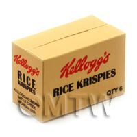 Dolls House Miniature Kellogs Rice Krispies Shop Stock Box