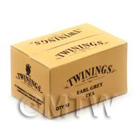 Dolls House Twinings Earl Grey Tea Shop Stock Box