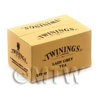 Dolls House Miniature Twinings Lady Grey Shop Stock Box