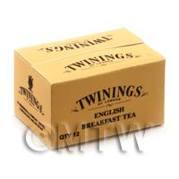 Dolls House Miniature Twinings English Tea Shop Stock Box