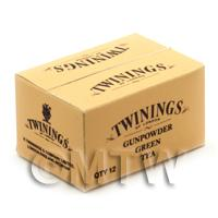 Dolls House MiniatureTwinings Green Tea Shop Stock Box