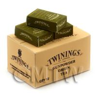 Dolls House Twinings Green Tea Stock Box And 3 Loose Boxes