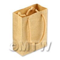 Dolls House Miniature Handmade Brown Paper Bags