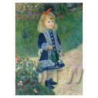 Pierre Auguste Renoir Painting Girl With A Watering Can