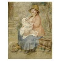 Pierre Auguste Renoir Painting Maternity