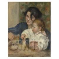 Pierre Auguste Renoir Painting Portrait of Gabrielle and Jean