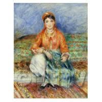 Pierre Auguste Renoir Painting Portrait of an Algerian Girl
