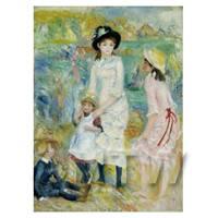Pierre Auguste Renoir Painting Children Playing On The Seashore