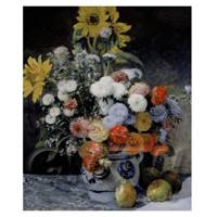 Pierre Auguste Renoir Painting Mixed Flowers in A Pot
