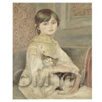 Pierre Auguste Renoir Painting Portrait of Julie Manet