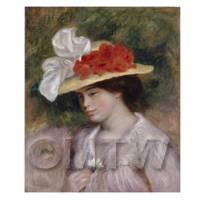 Pierre Auguste Renoir Painting Woman In A Flowered Hat
