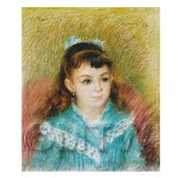 Pierre Auguste Renoir Painting Portrait Of A Young Girl