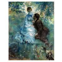 Pierre Auguste Renoir Painting The Lovers