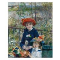 Pierre Auguste Renoir Painting Two Sisters