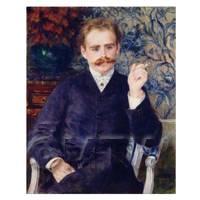 Pierre Auguste Renoir Painting Portrait of Albert Cahen