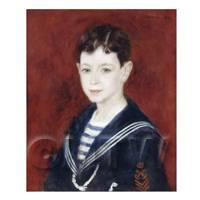 Pierre Auguste Renoir Painting Fernand Halphe As A Boy