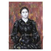 Pierre Auguste Renoir Painting Portrait of Madame Pauline