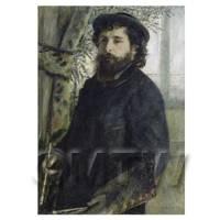 Pierre Auguste Renoir Painting Portrait of Claude Monet