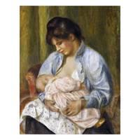 Pierre Auguste Renoir Painting A Woman Nursing A Child