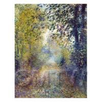 Pierre Auguste Renoir Painting In The Woods