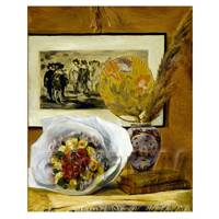 Pierre Auguste Renoir Painting Still Life With A Bouquet